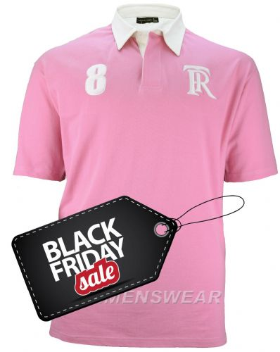 ROWAN TREE  Rugby Style Polo Shirt - PINK